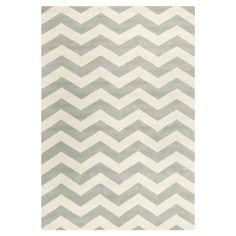 Safavieh Chatham Chevron Grey & Ivory Area Rug & Reviews | Wayfair