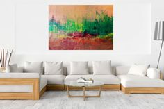 Smell of berries – XXL abstract landscape Copper Color, Abstract Styles, Abstract Landscape, Berries, Landscapes, Autumn, The Originals, Canvas, Acrylics