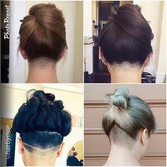 undercut women's hair design - Google Search