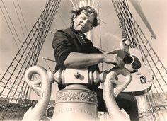 Foto: Kystmuseet.  Johannes Kleppevik ombord i Statsraad Lehmkuhl. Born: October 10, 1947, Bergen Died: February 3, 2001, Sandviken, Norway