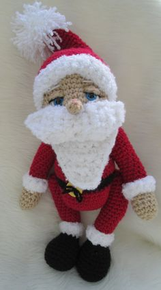 Crochet Pattern Santa Doll by Teri Crews instant by TCrewsDesigns