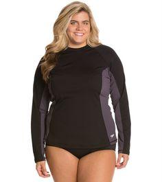 eb50ec9e454 Women s Plus Size Adjustable Tunic Swim Rash Guard (in Black  size ...
