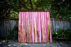 Shades of Pink Fabric and Metallic Gold by thehighfivefactory via Etsy.