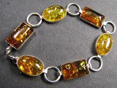 BALTIC AMBER SILVER BRACLET 20 CM LENGTH   MYG438 amber bracelets, gemstone bracelets , bracelets