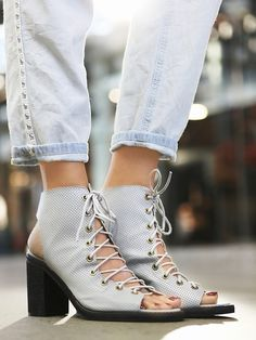 Jeffrey Campbell + Free People Perf Minimal Lace Heel at Free People Clothing Boutique