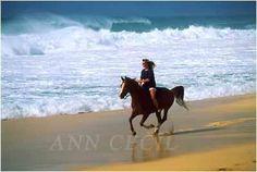 riding on the beach :)