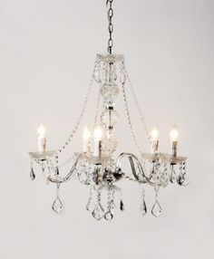 Crystal Pendant Chandelier sweet pea & willow £165
