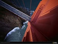 Image result for Bird's-eye view of the Golden Gate Bridge, San Francisco, California