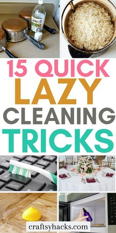 Try these cleaning hacks tips and tricks. Deep cleaning your house can be tiring so use these hacks to constantly clean home. hacks tips and tricks lazy girl 15 Lazy Girl Cleaning Hacks You Need Diy Home Cleaning, Speed Cleaning, Household Cleaning Tips, House Cleaning Tips, Diy Cleaning Products, Kitchen Cleaning, Cleaning Hacks Tips And Tricks, Deep Cleaning Tips, Cleaning Recipes