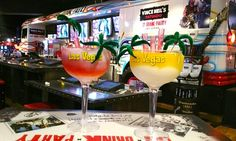 At the rock-themed restaurant of Mötley Crüe's Vince Neil, diner sip giant blended margaritas from towering glasses they can take home