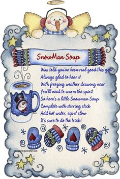 Snowman soup, going to make up these as little gifts for Christmas--Love the graphics and it looks like it is from Hugware.  Need to see if I have the frame.