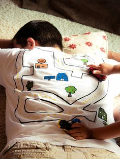 A t-shirt that doubles as a toy. A true WIN-WIN! http://www.ivillage.com/best-fathers-day-gifts/6-a-537217