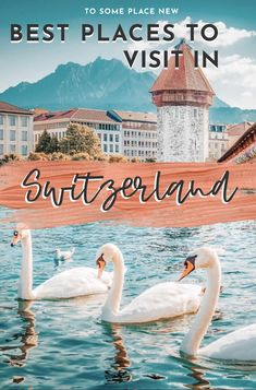 Explore most beautiful cities in Switzerland :These best cities to visit in Switzerland will fuel your wanderlust with their scenic landscape & town centres Switzerland Travel Guide, Places In Switzerland, Visit Switzerland, Backpacking Europe, Europe Travel Tips, European Travel, Most Beautiful Cities, Amazing Places, Belle Villa