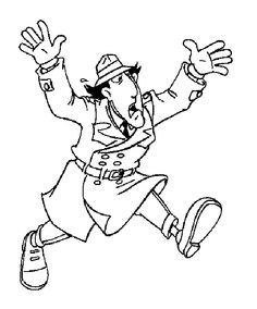 inspector gadget coloring pages - photo#26