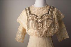 1912 Titanic Era Wedding Gown. $889.00, via Etsy.