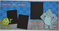 Disney Monsters University 2-Page 12x12 Scrapbook Page KIT