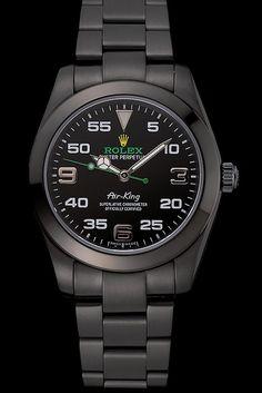 Rolex Air King Black Dial Black Staineless Steel Bracelet 1454019