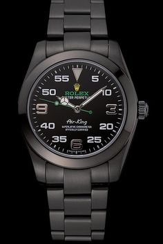 Rolex Air King Black Dial Black Staineless Steel Bracelet 1454019