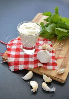 Middle eastern garlic sauce. Garlic lovers heaven and it is vegan too!