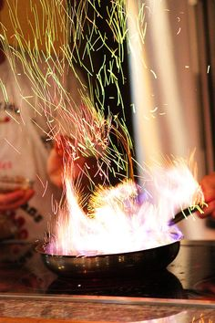 Love this flambe capture from @Kevin and Amanda