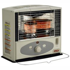 Dyna-Glo RMC-55R7 Indoor Kerosene Radiant Heater, 10000 BTU, Ivory Kerosene Heater, Radiant Heaters, Enclosed Porches, Thing 1, Tool Sheds, Radiators, Indoor Outdoor, Household, Kitchen Appliances