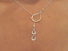 Teardrop Necklace  Lariat Tears of Joy by MiritLevinJewelry, $46.00