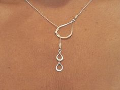Tears of Joy lariat necklace