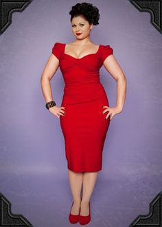 Billion Dollar Baby Dress in Red Red 50's style wiggle dress by Stop Staring [SKU16370] - £175.00 : Deadly Is The Female, Vintage inspired clothing & accessories for stunning starlets & burlesque beauties