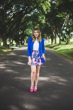Look do dia: azul e pink