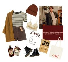 """Untitled #73"" by livmehlin on Polyvore featuring Dr. Martens, Fleur't, Topshop, River Island, WithChic, Retrò and Oui"