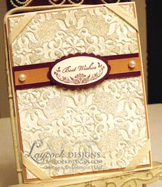 Best Wishes by Michelle Laycock - Cards and Paper Crafts at Splitcoaststampers using Stampin' Up! Oval All retired stamp set.