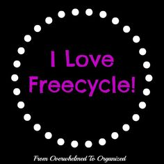 From Overwhelmed to Organized: I Love Freecycle - calendars