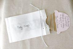 paper bag invitations