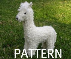 Image of Alpaca Toy Knitting Pattern, PDF.  Oh my gosh, my heart just exploded!!!