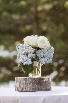 Hydrangeas and roses: http://www.stylemepretty.com/canada-weddings/ontario/ottawa/2013/10/24/danford-lake-wedding-from-studio-g-r-martin-photography/ | Photography: Studio G. R. Martin - http://www.martinphotography.ca/