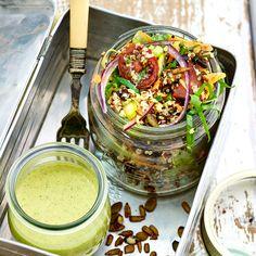 This Vibrant Quinoa Salad recipe is full energy boosting nutrients including B-vitamins, vitamin C and Cellular Energy, Quinoa Salad Recipes, Health Programs, Vitamin C, Health And Nutrition, Vibrant, Healing, Key, Ethnic Recipes