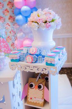 """Photo 28 of 44: Vintage Shabby Chic Owl / Birthday """"Kaila's 1st Birthday""""   Catch My Party"""