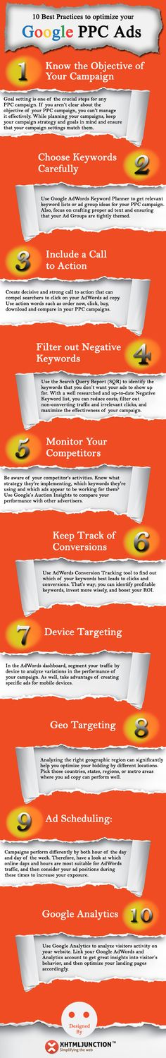 Is your AdWords campaign performing as you expected? Are you getting the most out of it? If no, here's an infographic showing Google AdWords Optimization Tips.