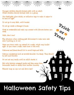 {Printable} #Halloween Safety Tips