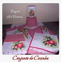 Conj. cozinha com maçãs