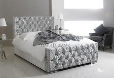 Crushed Velvet Fabric Upholstered Bed Frame 3FT, 4'6ft,5FT Sale Now On!!