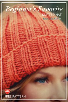 Beginners Favorite Knitted Hat - free knitting pattern for a cute hat