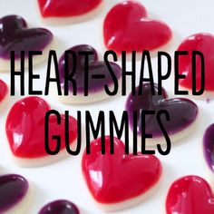 Gummies Heart-shaped gummies bring the awwww… Yummy Treats, Delicious Desserts, Sweet Treats, Yummy Food, Candy Recipes, Sweet Recipes, Dessert Recipes, Gelatin Recipes, Homemade Candies