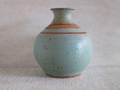 mrjongo: Banded Turquoise vase. Soldate... - the modern pottery studio