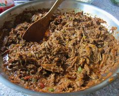 """Mexican Shredded Beef ~ """"The perfect shredded beef for tacos, burritos or enchiladas. This well seasoned beef will please the crowd and quickly become a favorite. While more work than ground beef taco meat, remember all good things take time."""""""