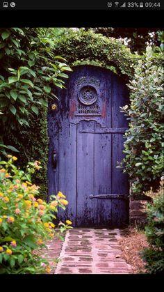 Garden Gate Once Upon A Time Secret Garden Door Purple Door Cool Doors, The Doors, Unique Doors, Windows And Doors, Entry Doors, Front Doors, Door Entryway, Secret Garden Door, Garden Doors