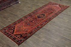 50 Years Old Long Tribal Hamedan Runner Persian Oriental Area Rug Carpet Kitchen Rug, 50 Years Old, Persian Rug, Rugs On Carpet, Bohemian Rug, Oriental, Area Rugs, Persian Carpet, Kitchen Carpet