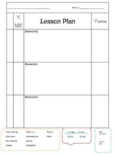 Lesson Plan Template   Classroom Organization