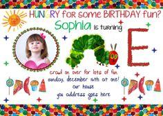 Very Hungry Caterpillar Birthday Party Invitation Printable