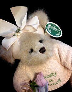 BEARINGTON GRACIE GRATEFUL BEAR ~ THANKS A BUNCH FLOWERS Jointed Teddy #ThankYou